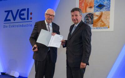 ZVEI ehrt Weidmüller Aufsichtsratsmitglied Dr. Peter Köhler