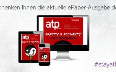 Kostenfreies ePaper: Sie bleiben zu Hause und die atp kommt digital zu Ihnen