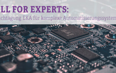 Call for Papers: 16. Fachtagung EKA – Entwurf komplexer Automatisierungssysteme
