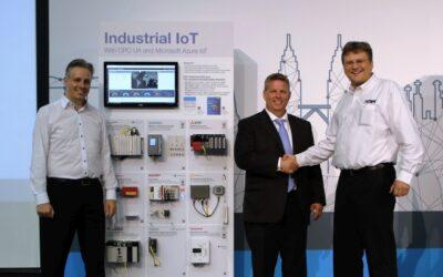 """OPC Foundation präsentiert """"Azure Industrial IoT"""" auf interaktiven Info-Wänden"""