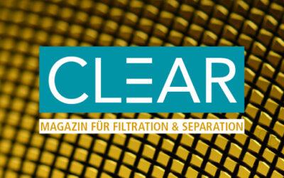 CLEAR: Launch eines neuen Fachmagazins zur Filtration und Separation