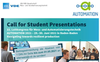 Call for Students: Student Presentations auf der Automation 2021