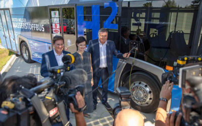 Projekt: Erster Wasserstoffbus geht an den Start